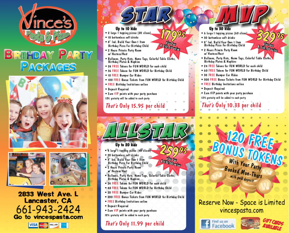 team sports party packages